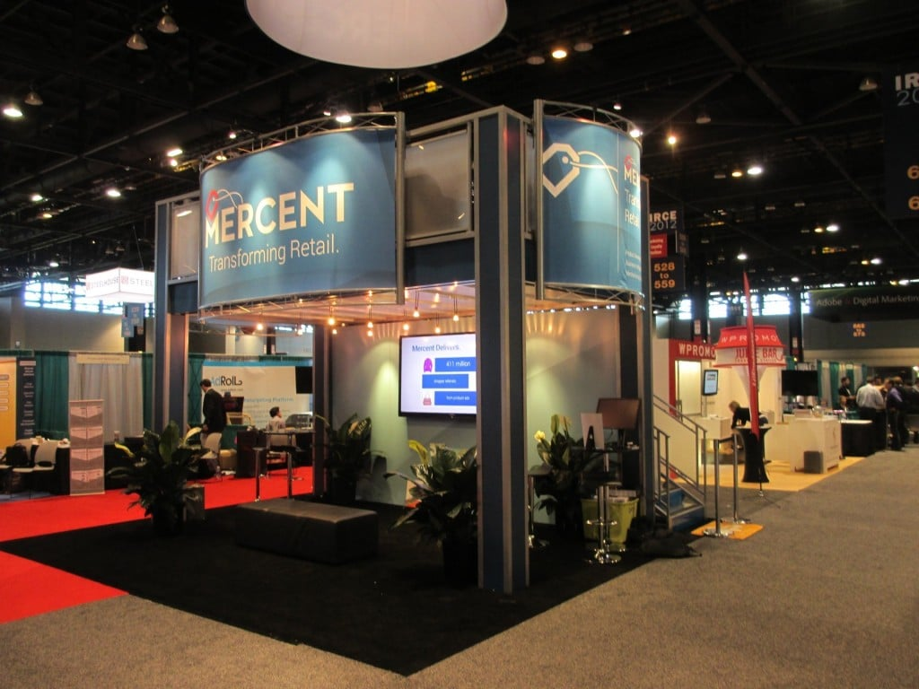 trade show rental displays - 20x20 island double deck trade show truss display