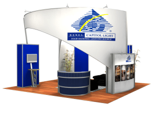 20x20 trade show exhibits & displays with tension fabric and backlighting-resized-600