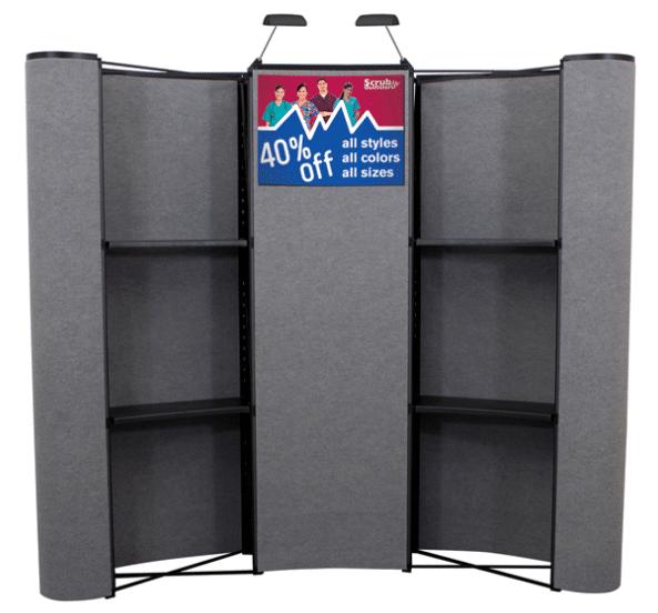Arise 10ft Velcro Receptive Pop Up Merchandising Trade Show Display