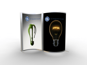 double-sided light box with fabric graphics and aluminum frame-resized-600