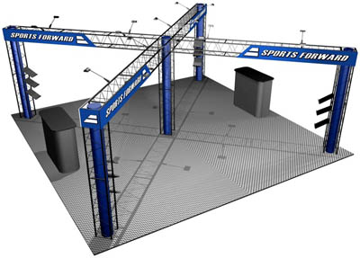 Quartz 20' x 20' EZ 12 truss display