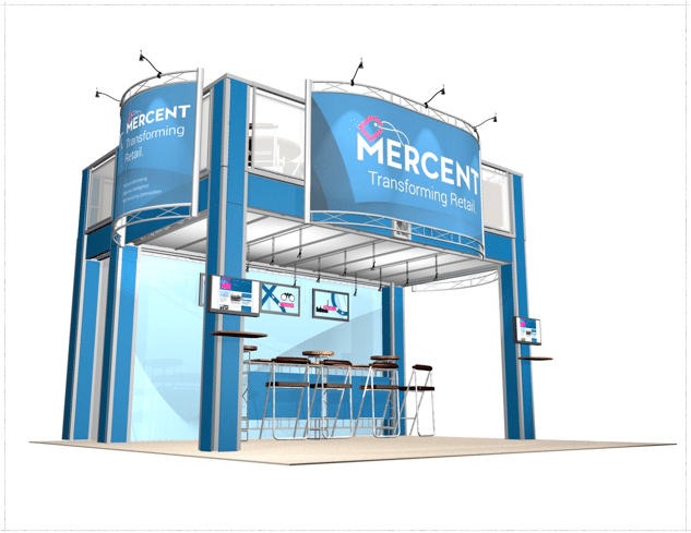 20 x 20 Mercent Trade Show Double-Decker