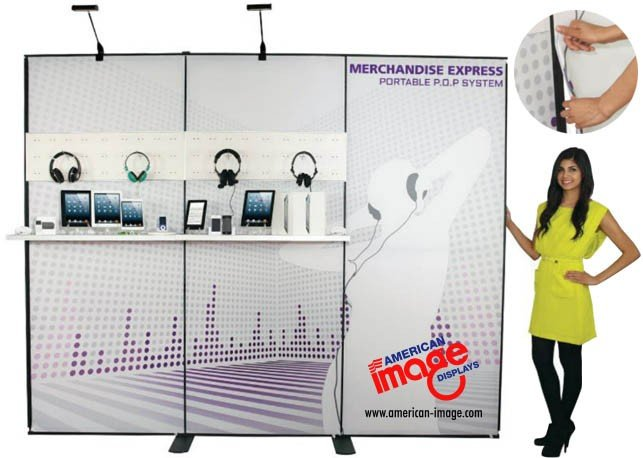 Merchant Express Exhibit Kits: Modular Fabric Trade Show Panels