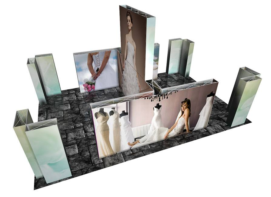 Next SEG Fabric PopUp Display Custom Booth #B STACKED