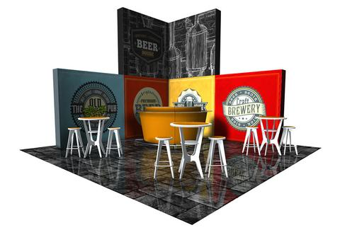 the Next portable booth is an excellent tool to increase trade show booth traffic