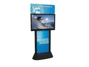 dBS Digital Banner Stand with custom graphics for AMEX