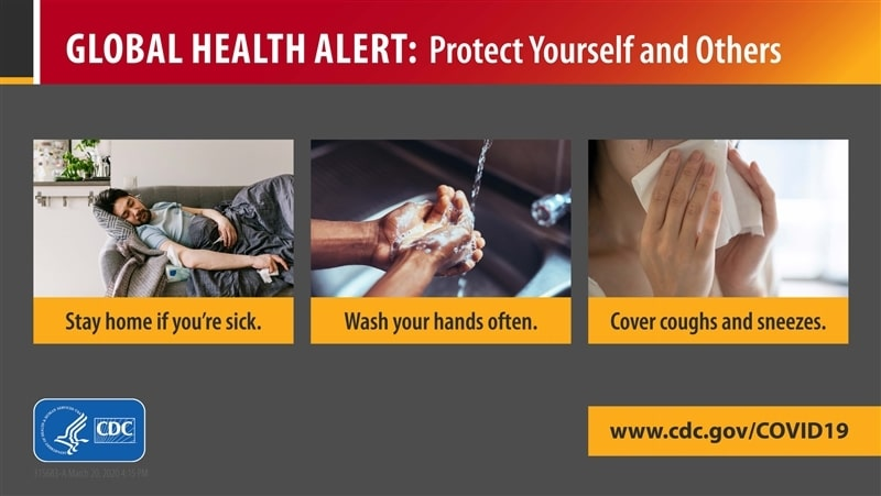 Protect Yourself Travel Health Alert 22in X 12in Metal Sign