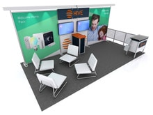 Custom 10x20 with Trade Show Furniture Shown - DM VK-2068